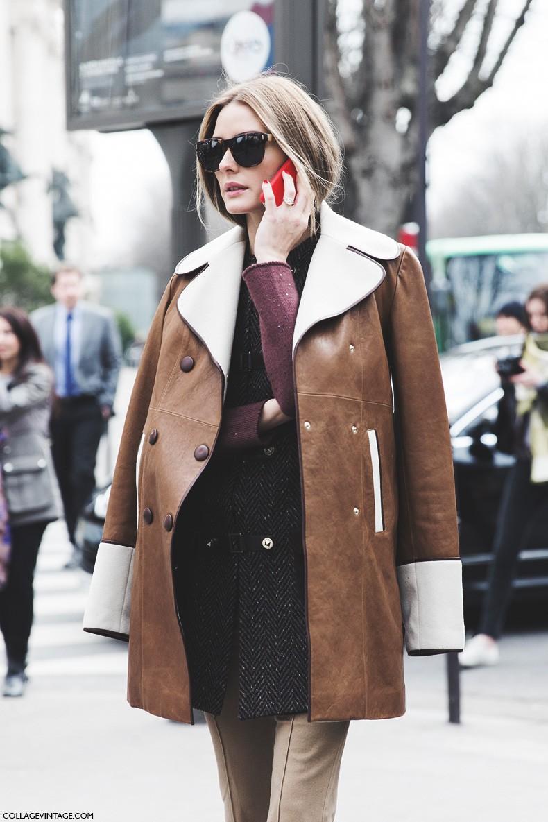 Paris_Fashion_Week-Fall_Winter_2015-Street_Style-PFW-Olivia_Palermo_Leather_Coat-Giambatista_Valli-Flared_Trousers-14