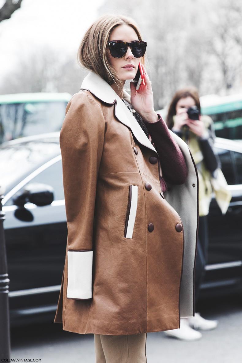 Paris_Fashion_Week-Fall_Winter_2015-Street_Style-PFW-Olivia_Palermo_Leather_Coat-Giambatista_Valli-Flared_Trousers-15