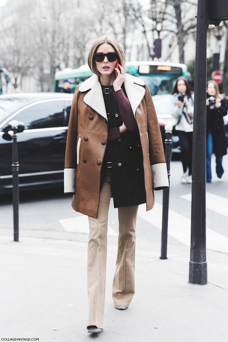 Paris_Fashion_Week-Fall_Winter_2015-Street_Style-PFW-Olivia_Palermo_Leather_Coat-Giambatista_Valli-Flared_Trousers-17