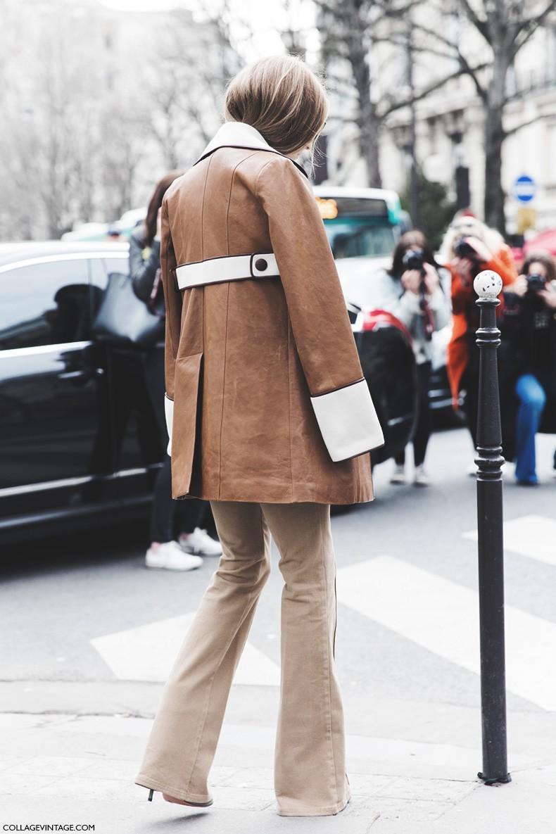 Paris_Fashion_Week-Fall_Winter_2015-Street_Style-PFW-Olivia_Palermo_Leather_Coat-Giambatista_Valli-Flared_Trousers-20