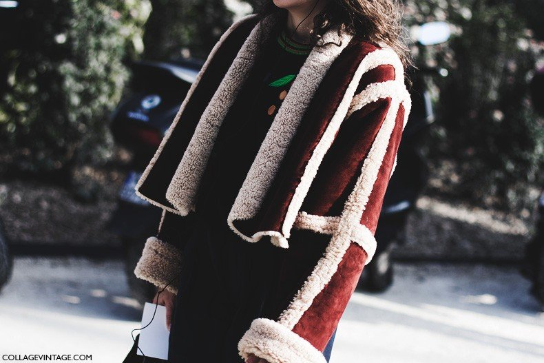 Paris_Fashion_Week-Fall_Winter_2015-Street_Style-PFW-Shearling_Coat-