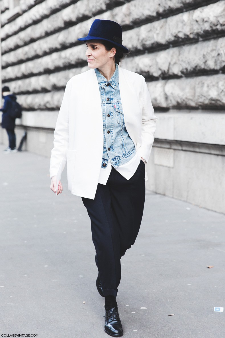 Paris_Fashion_Week-Fall_Winter_2015-Street_Style-PFW-Tomboy-Denim_Jacket-