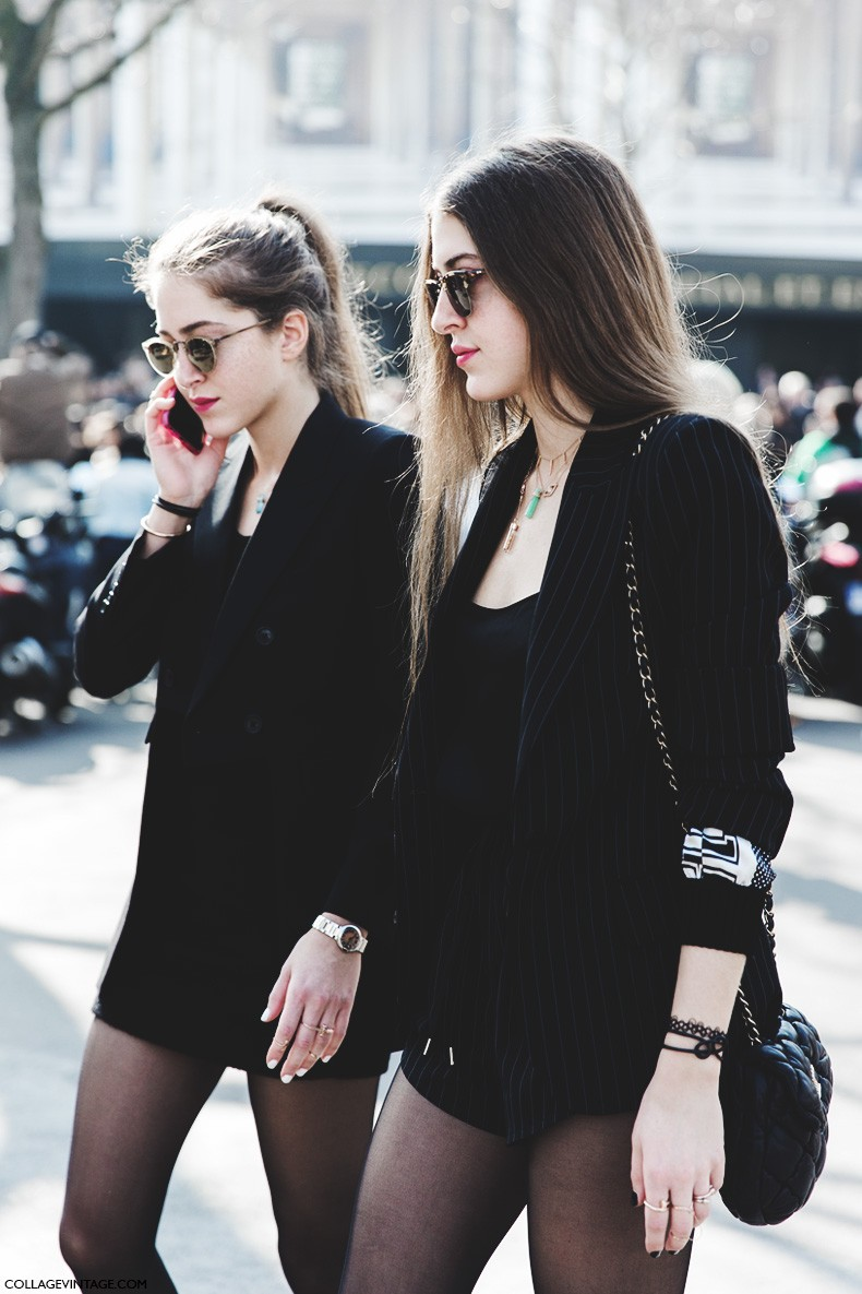 Paris_Fashion_Week-Fall_Winter_2015-Street_Style-PFW-Twins-Miu_Miu-