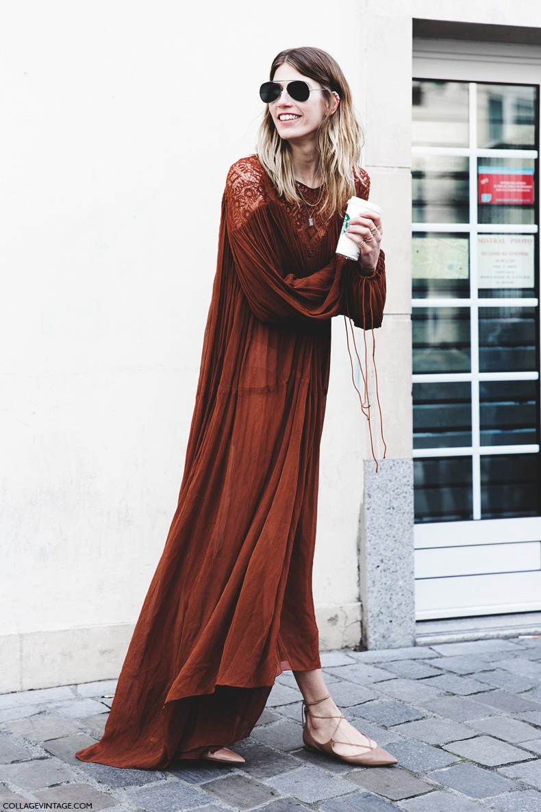 Paris_Fashion_Week-Fall_Winter_2015-Street_Style-PFW-Veronika_Heilbrunner-Long_Dress-Boho-1