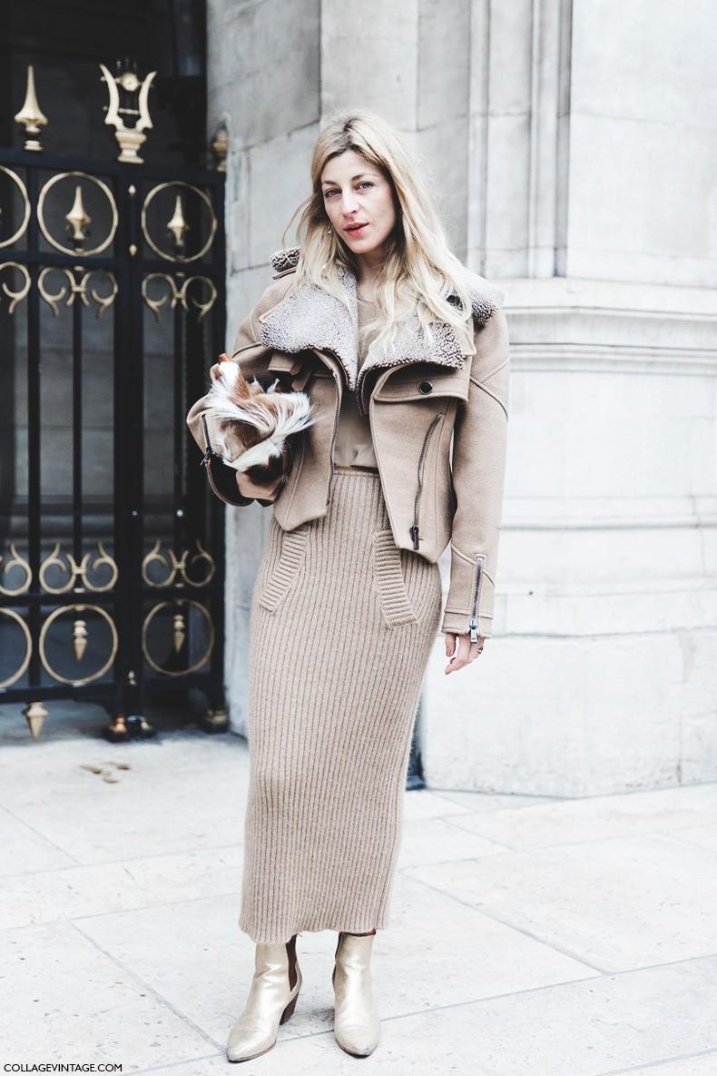 Paris_Fashion_Week-Fall_Winter_2015-Street_Style-PFW-da_kokosar-Camel_Outfit-Ribbed_Skirt-1