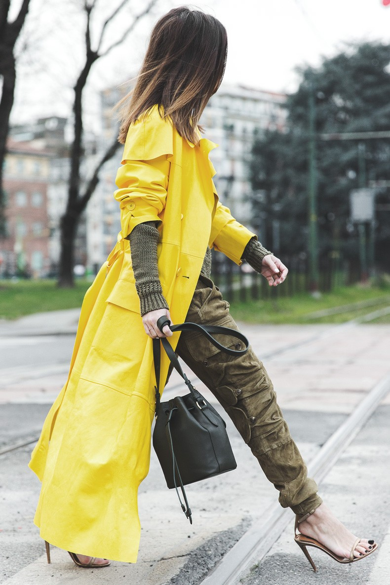 Ralph_Lauren_Spring_Summer_2015-Yellow_Leather_Trench-Suede_Cargo-trousers-Khaki-Outfit-MFW-Milan_Fashion_Week-Collage_Vintage-Street_Style-12