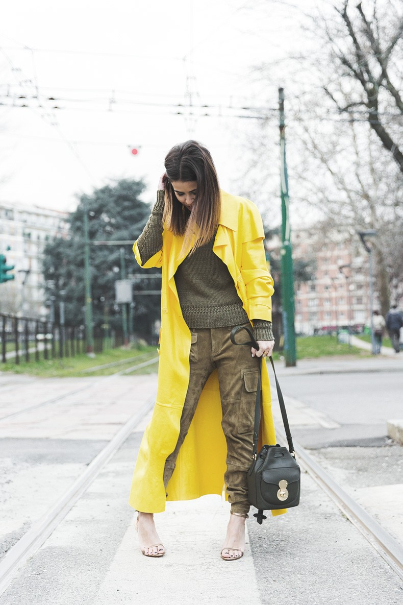 Ralph_Lauren_Spring_Summer_2015-Yellow_Leather_Trench-Suede_Cargo-trousers-Khaki-Outfit-MFW-Milan_Fashion_Week-Collage_Vintage-Street_Style-17