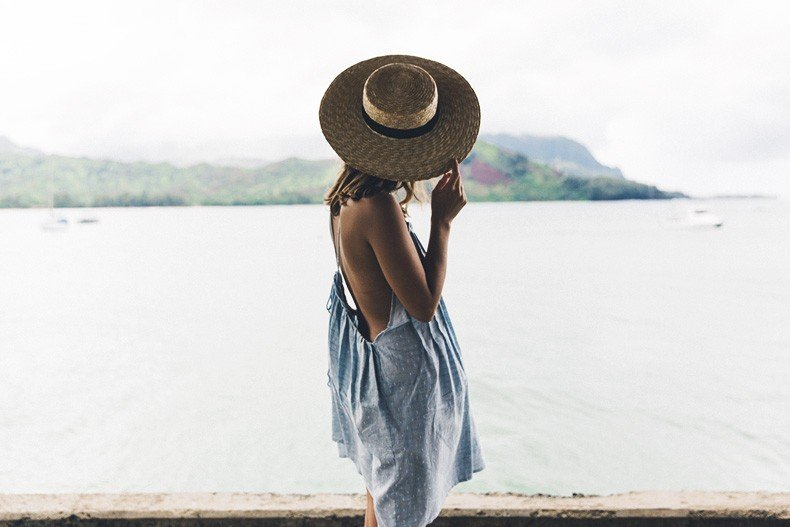 Hanaley_Bay-Kauai-Hawai-Travels-Tips-Sabo_Skirt_Dress-Straw_Hat-Lack_Of_Color-Outfit-Beach-Collage_Vintage-29