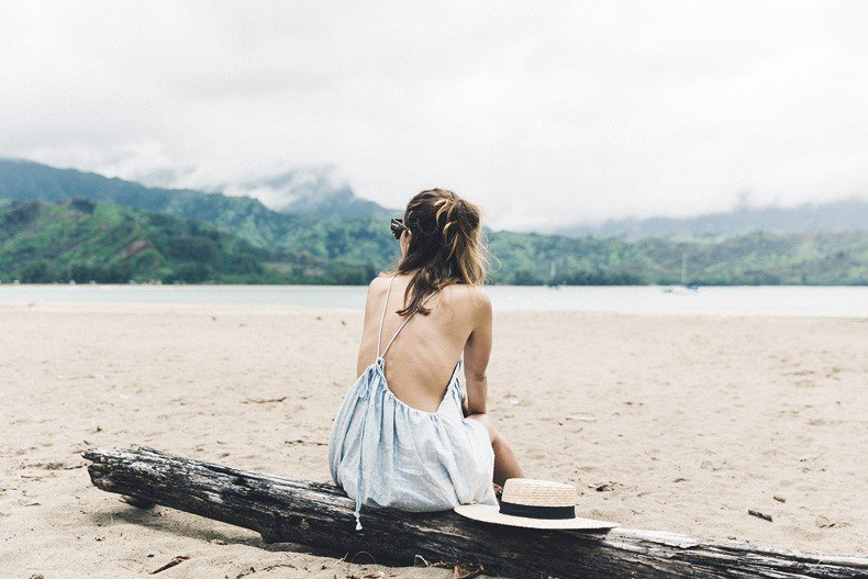 Hanaley_Bay-Kauai-Hawai-Travels-Tips-Sabo_Skirt_Dress-Straw_Hat-Lack_Of_Color-Outfit-Beach-Collage_Vintage-32