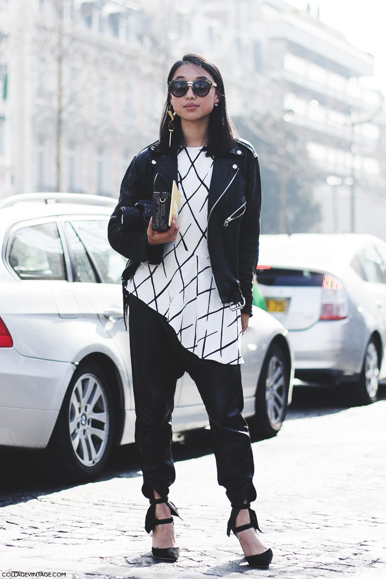 Paris_Fashion_Week-Fall_Winter_2015-Street_Style-PFW-Margaret_Zhang-Leather_Jacket-Louis_Vuitton-1