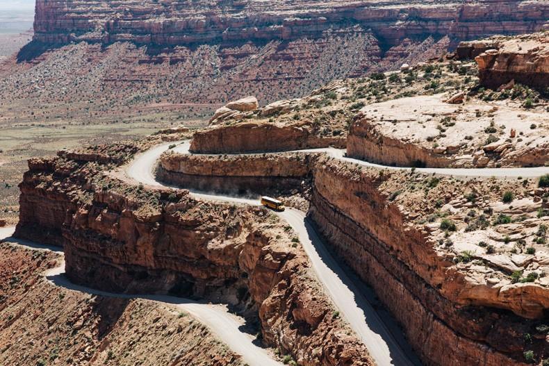 Gooseneck_State_Park-Glen_Canyon-Natural_Bridges-Utah-Chicwish-Off_The_Shoulders_Dress-Red-Converse-Collage_Vintage-Road_Trip-29