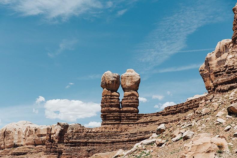 Gooseneck_State_Park-Glen_Canyon-Natural_Bridges-Utah-Chicwish-Off_The_Shoulders_Dress-Red-Converse-Collage_Vintage-Road_Trip-3