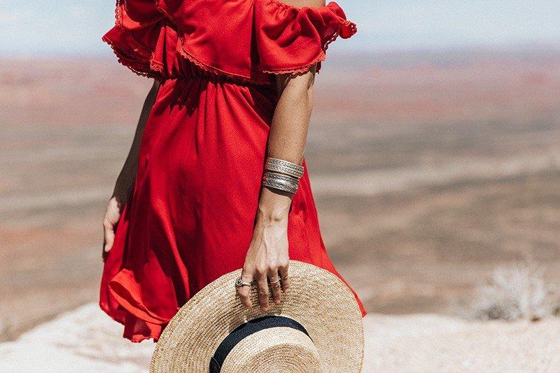 Gooseneck_State_Park-Glen_Canyon-Natural_Bridges-Utah-Chicwish-Off_The_Shoulders_Dress-Red-Converse-Collage_Vintage-Road_Trip-53