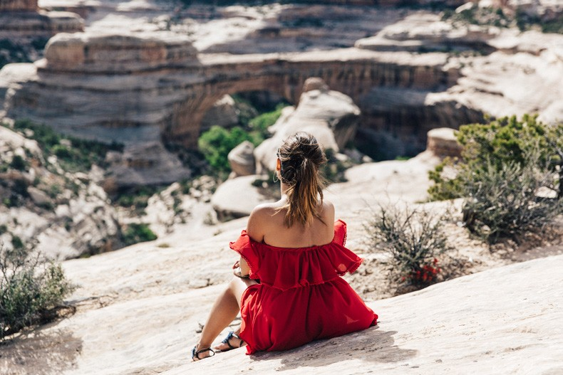 Gooseneck_State_Park-Glen_Canyon-Natural_Bridges-Utah-Chicwish-Off_The_Shoulders_Dress-Red-Converse-Collage_Vintage-Road_Trip-81