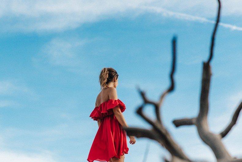 Gooseneck_State_Park-Glen_Canyon-Natural_Bridges-Utah-Chicwish-Off_The_Shoulders_Dress-Red-Converse-Collage_Vintage-Road_Trip-91