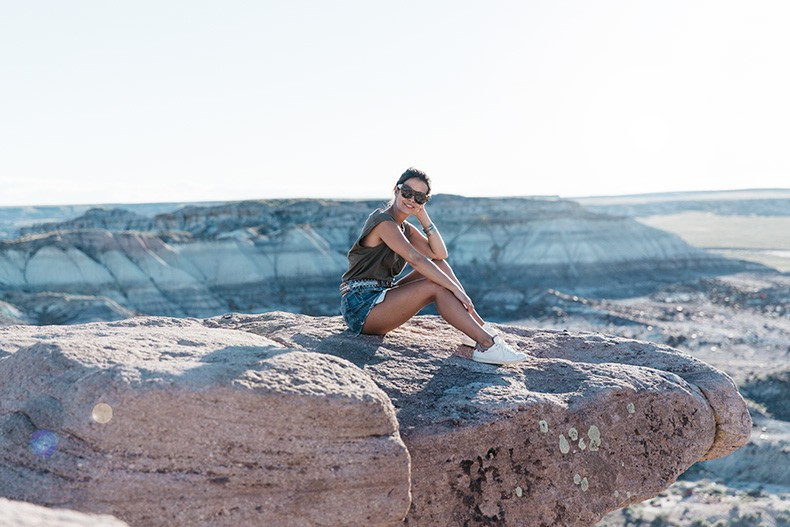 Painted_Desert_Petrified_Desert-Levis-Vintage-Maje_Belt-Outfit-Collage_on_The_Road-21
