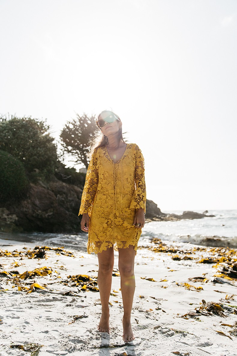 Carmel_By_The_Sea-Collage_On_The_Road-Lace_Dress-Yellow-Beach_outfit-Collage_Vintage-12