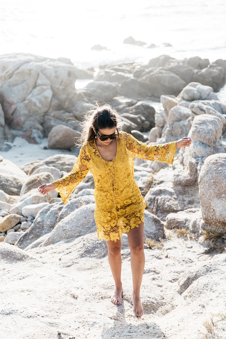 Carmel_By_The_Sea-Collage_On_The_Road-Lace_Dress-Yellow-Beach_outfit-Collage_Vintage-25