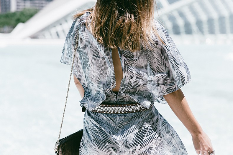 Tomorrowland-Valencia-Maje-Long_Dress-Snake_Bag-Silver_Sandals-Outfit-Street_Style-2