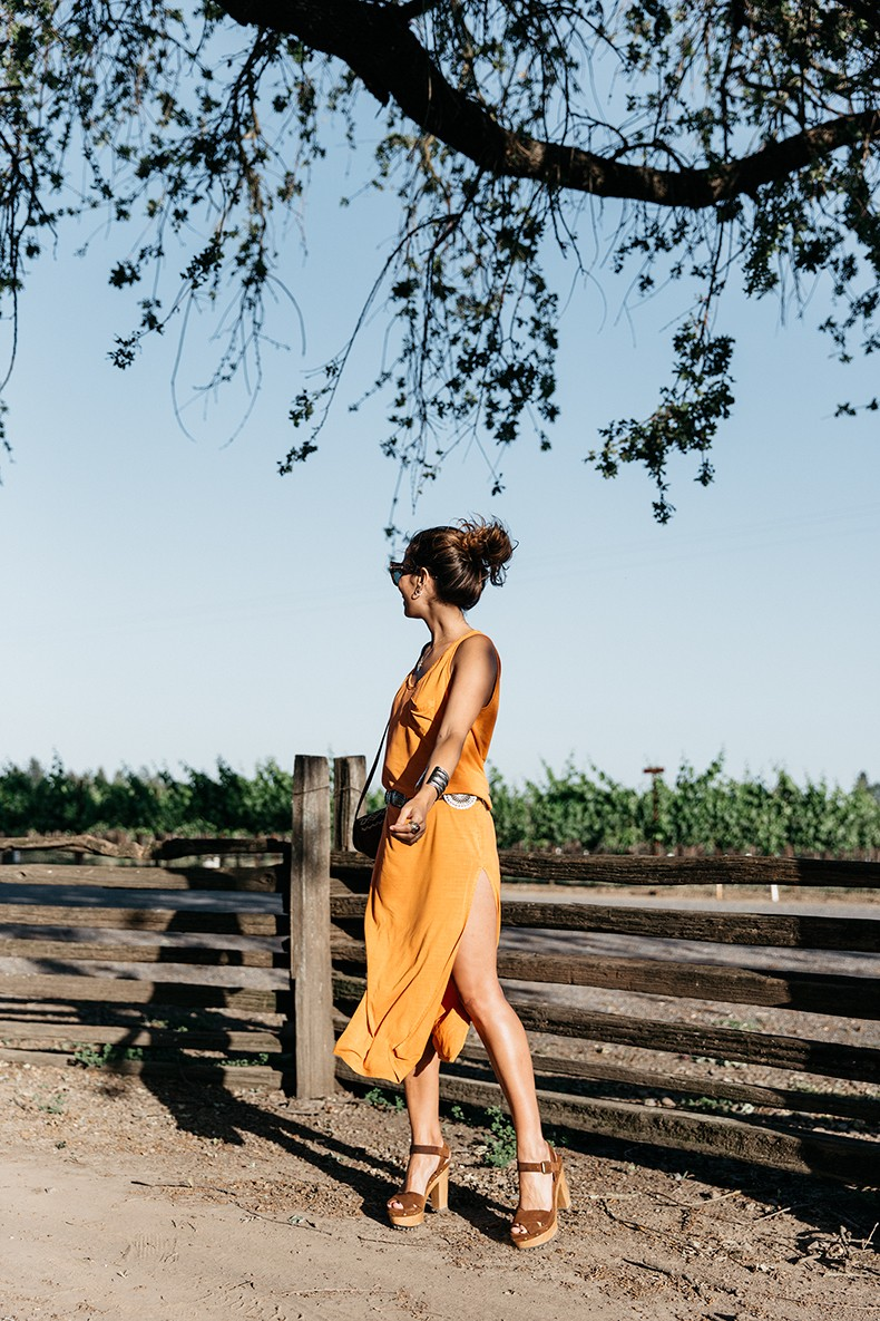 Vineyard-San_Francisco-US_101_Route-Orange_Dress-Polo_Ralph_Lauren-Outfit-Collage_On_The_Road-20