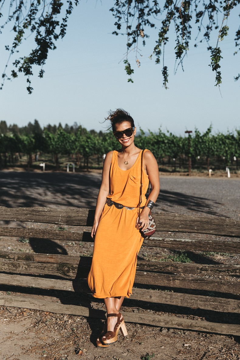 Vineyard-San_Francisco-US_101_Route-Orange_Dress-Polo_Ralph_Lauren-Outfit-Collage_On_The_Road-27