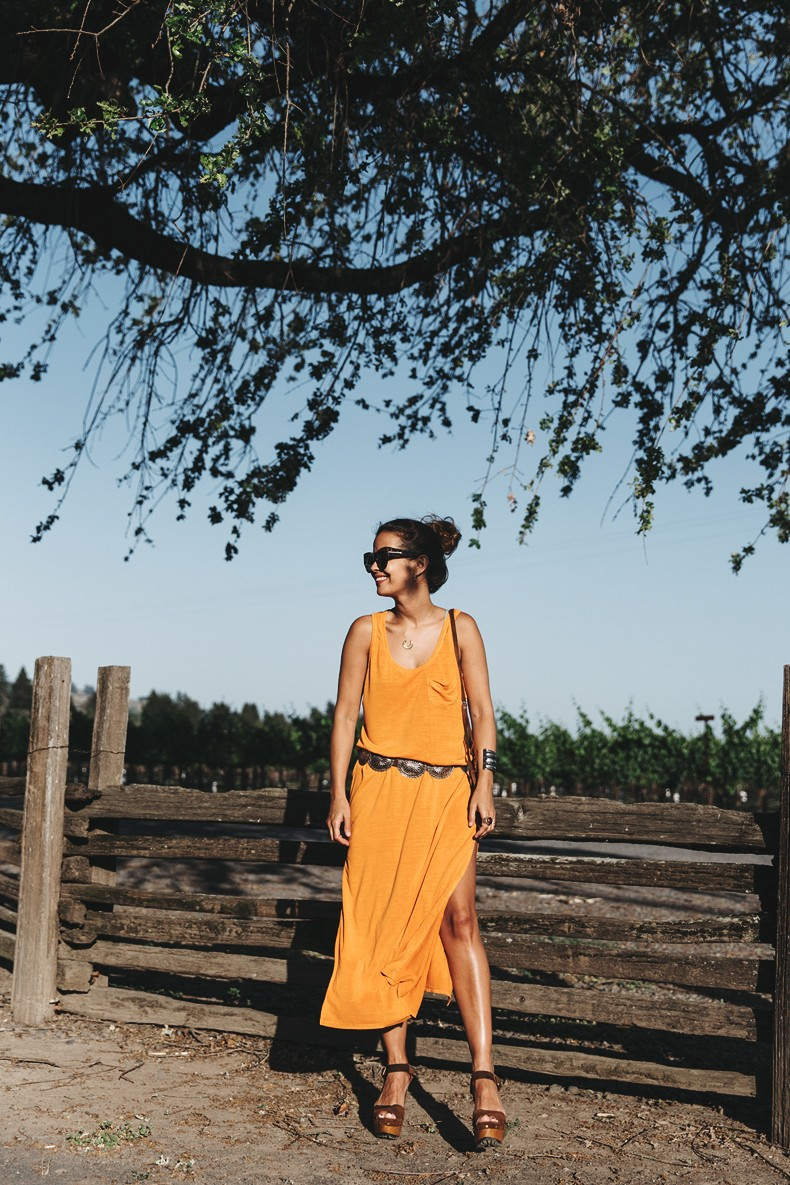 Vineyard-San_Francisco-US_101_Route-Orange_Dress-Polo_Ralph_Lauren-Outfit-Collage_On_The_Road-30