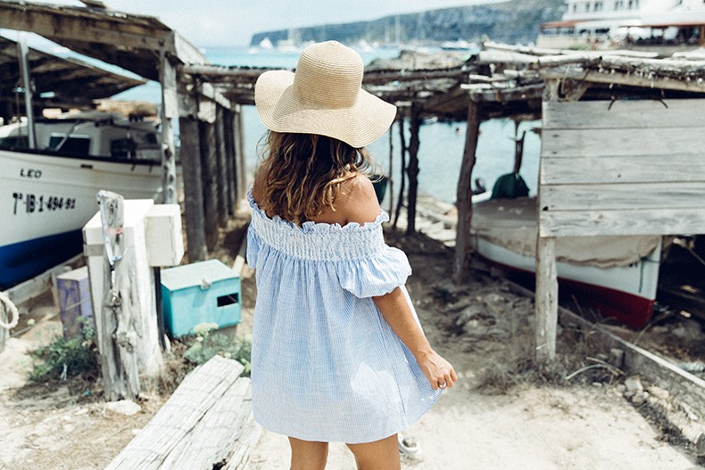 Straw_hat-Reformation-Striped_Dress-Off_The_Shoulders-Castaner_Espadrilles-Summer_look-Formetera-Collage_on_The_Road-12