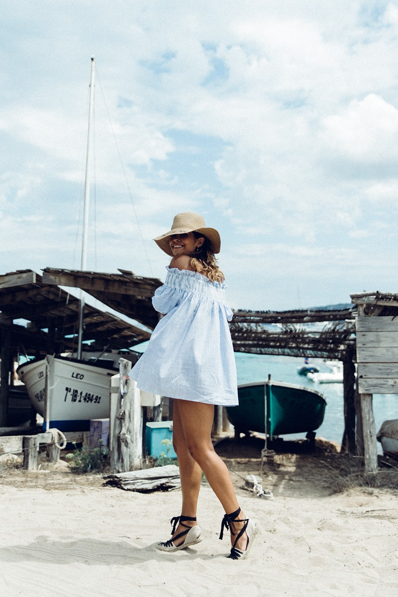 Straw_hat-Reformation-Striped_Dress-Off_The_Shoulders-Castaner_Espadrilles-Summer_look-Formetera-Collage_on_The_Road-33