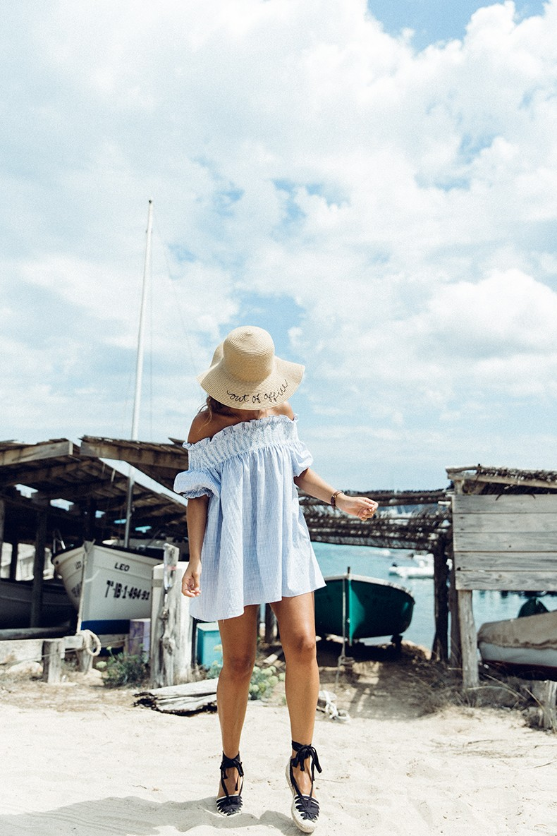 Straw_hat-Reformation-Striped_Dress-Off_The_Shoulders-Castaner_Espadrilles-Summer_look-Formetera-Collage_on_The_Road-8