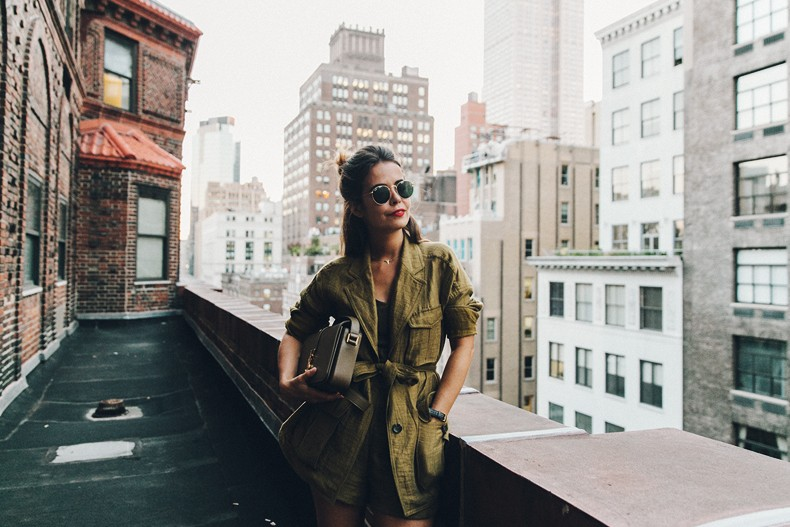 Khaki_Outfit-New_York-Where_To_Stay-NH_Hotels-Saint_Laurent_Bag-