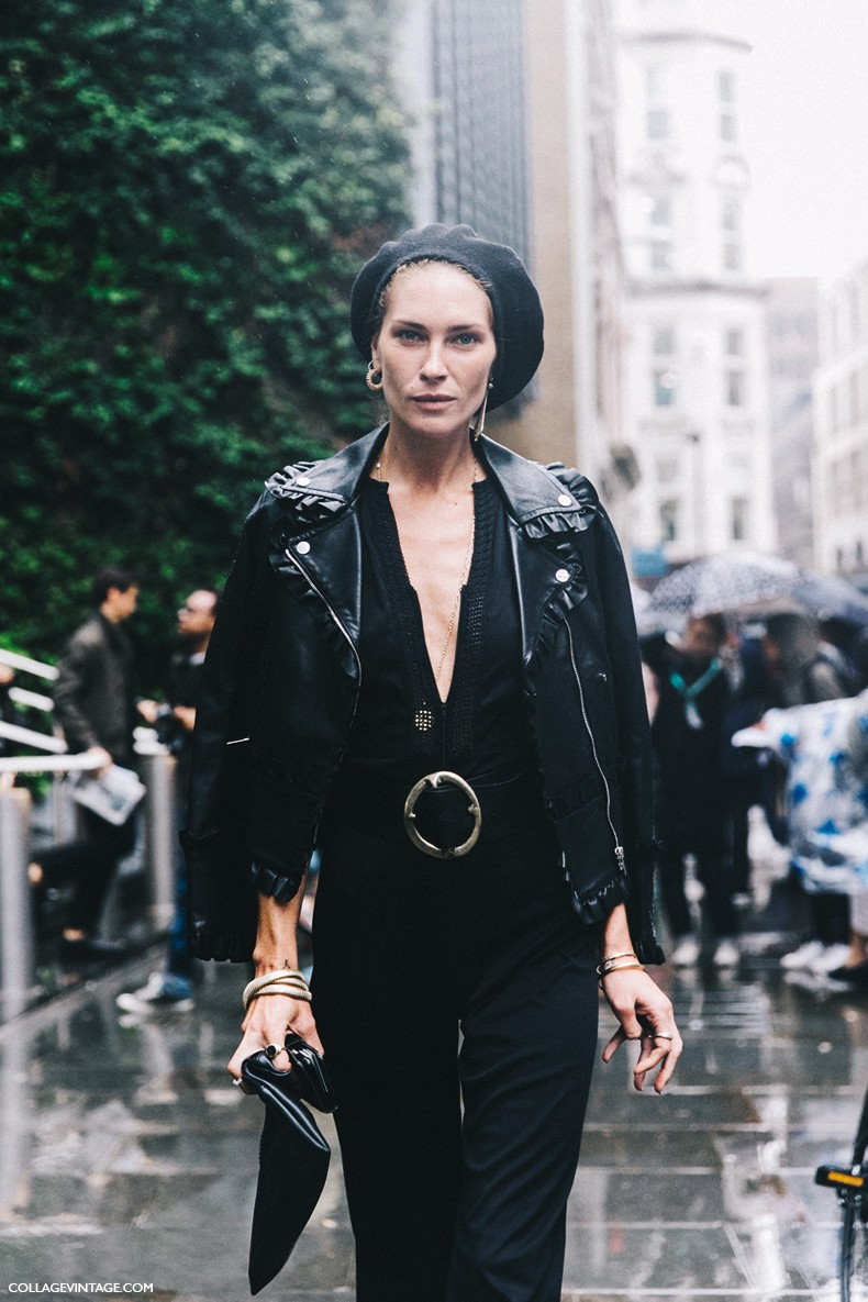 London_Fashion_Week-Spring_Summer_16-LFW-Street_Style-Collage_Vintage-Erin_Wasson-Leather_Jacket-Frenchy_Hat-3