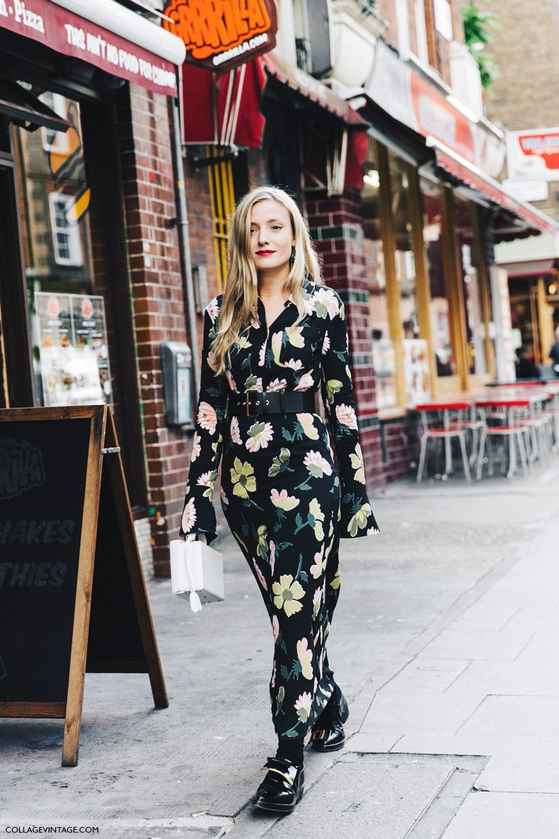 London_Fashion_Week-Spring_Summer_16-LFW-Street_Style-Collage_Vintage-Floral_Dress-Marni_Loafers-