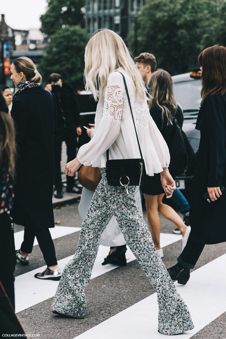 London_Fashion_Week-Spring_Summer_16-LFW-Street_Style-Collage_Vintage-Floral_Trousers-Chloe_Bag-1