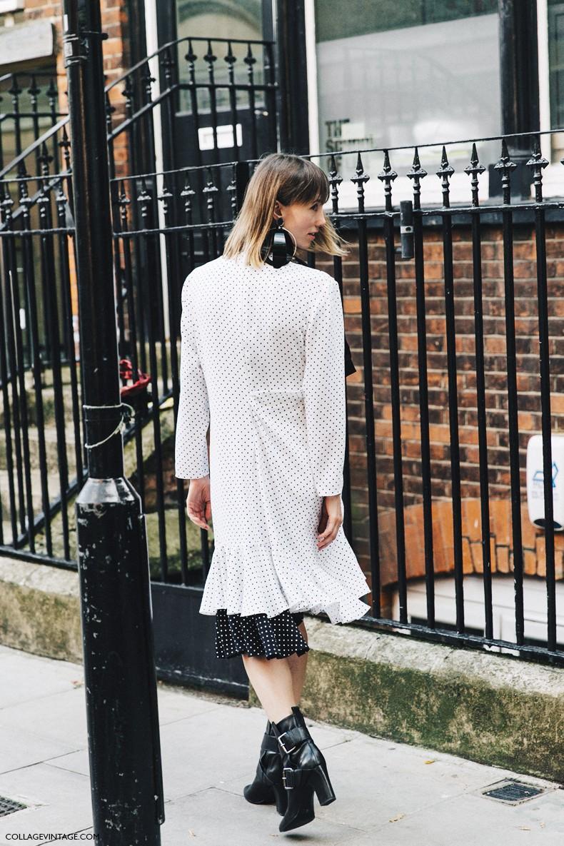 London_Fashion_Week-Spring_Summer_16-LFW-Street_Style-Collage_Vintage-JW_Anderson-Anya_Ziourova-Polka_Dot_Dress-2