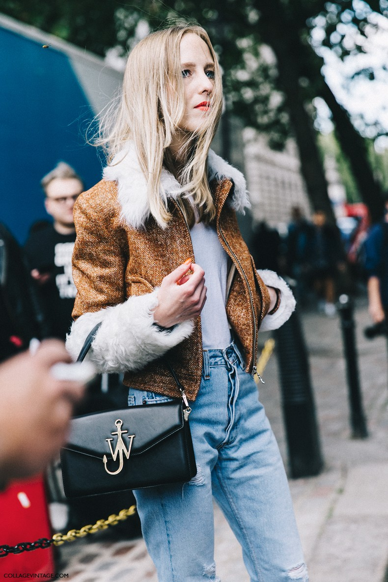 London_Fashion_Week-Spring_Summer_16-LFW-Street_Style-Collage_Vintage-JW_Anderson_Bag-Topshop_Unique_Jacket-Jeans-
