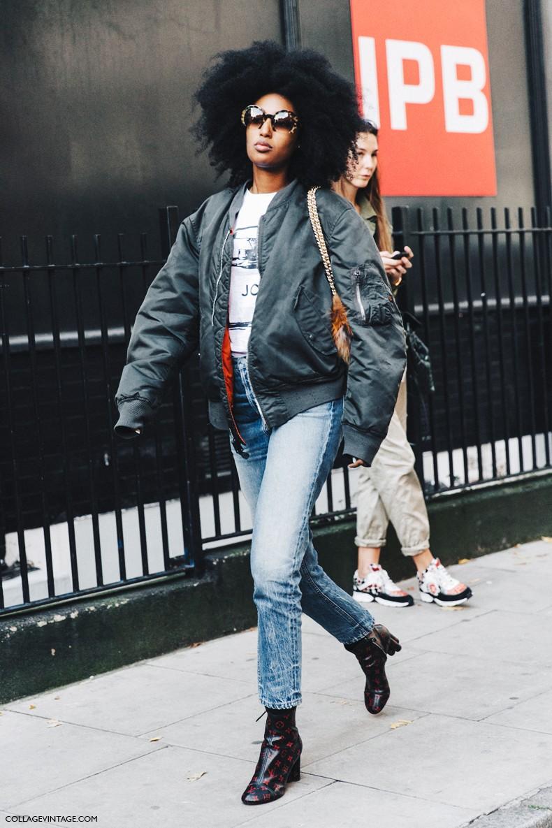 London_Fashion_Week-Spring_Summer_16-LFW-Street_Style-Collage_Vintage-Julia_Sarr_Jamois-Bomber-Fur_Bag-1
