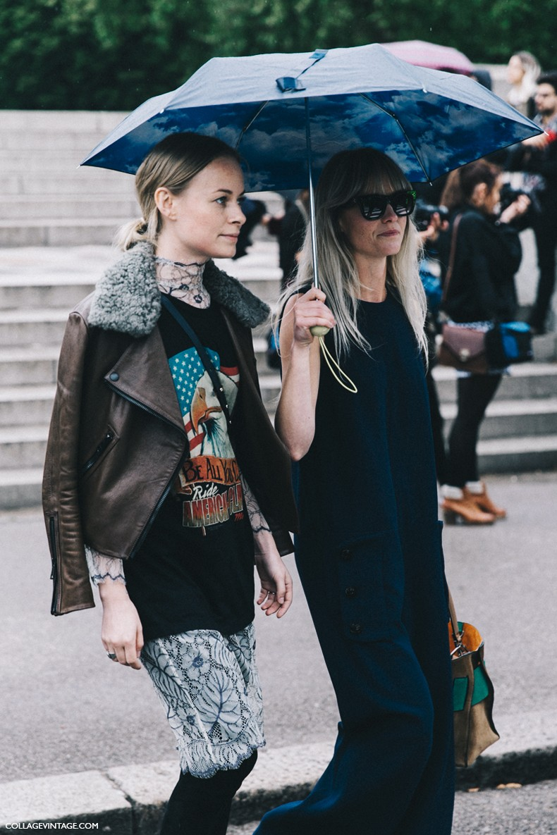 London_Fashion_Week-Spring_Summer_16-LFW-Street_Style-Collage_Vintage-Lace_Dress-Graphic_Top-Aviator_Jacket-