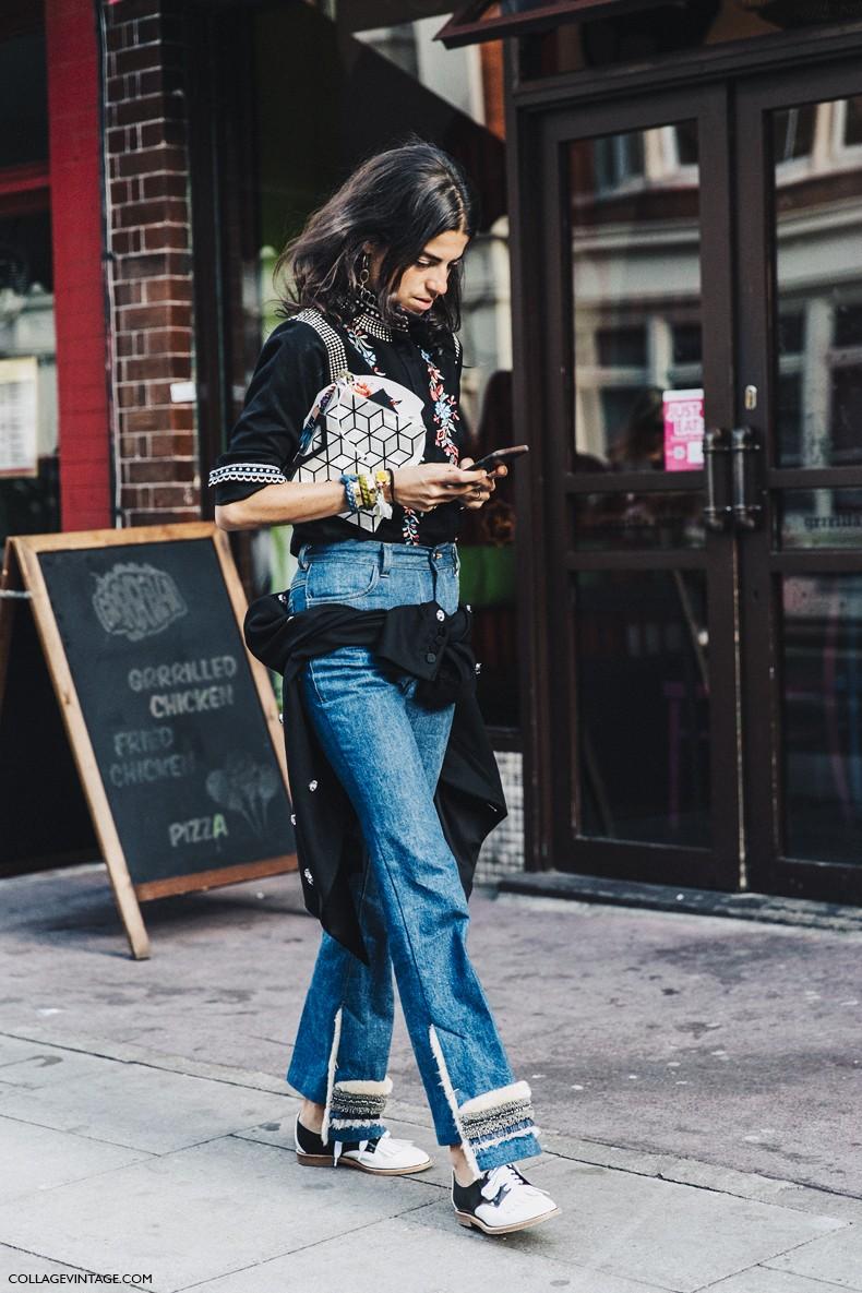 London_Fashion_Week-Spring_Summer_16-LFW-Street_Style-Collage_Vintage-Leandra_Medine-Jeans-Oxfords-1
