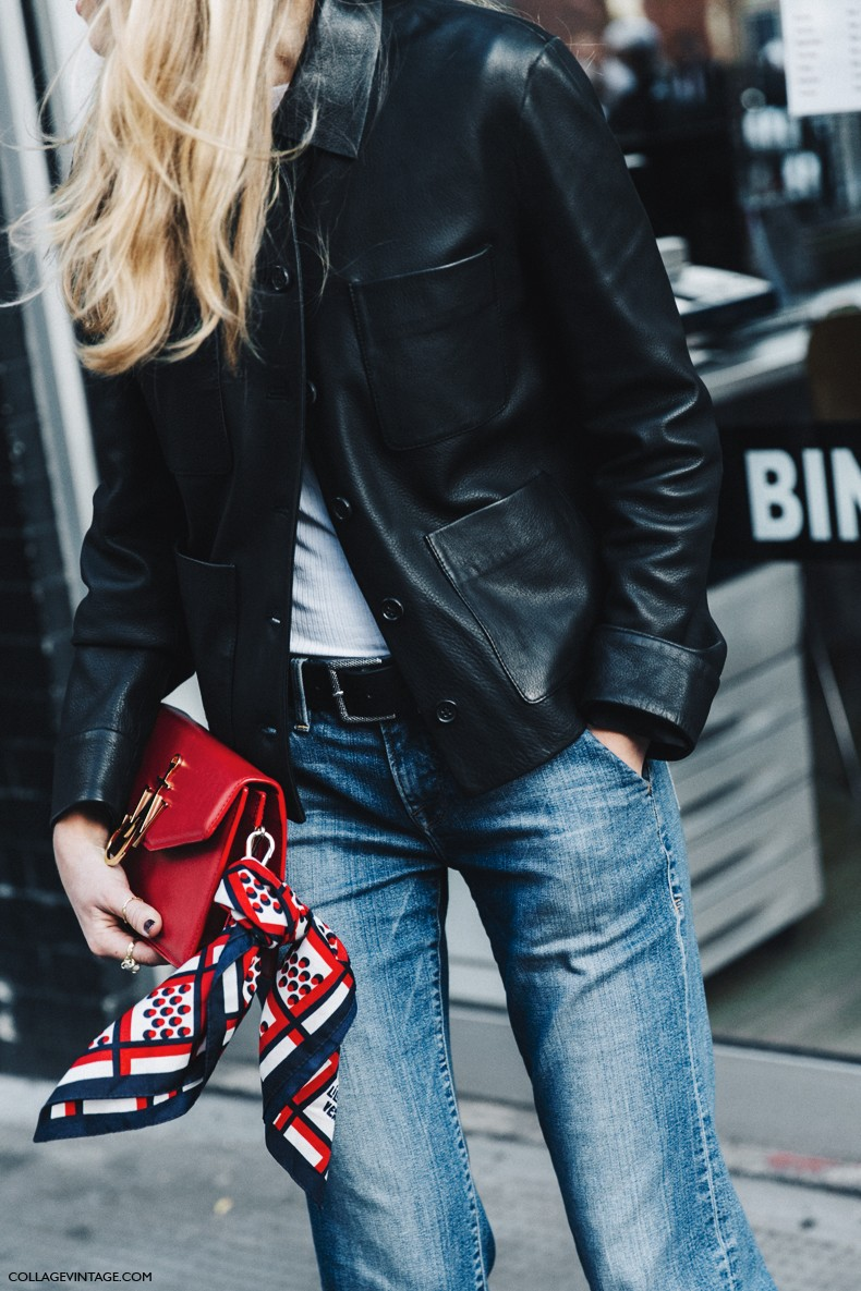 London_Fashion_Week-Spring_Summer_16-LFW-Street_Style-Collage_Vintage-Leather_Jacket-Levis_Vintage-JW_Anderson_Bag-