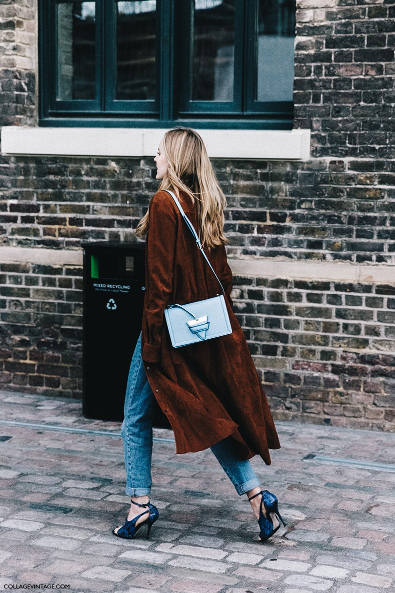 London_Fashion_Week-Spring_Summer_16-LFW-Street_Style-Collage_Vintage-Loewe_Bag-Suede_Trench_Coat-