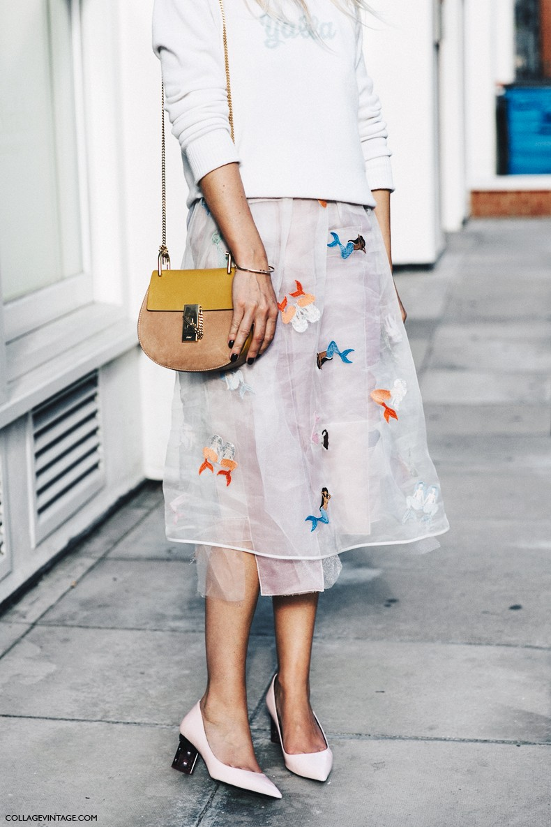 London_Fashion_Week-Spring_Summer_16-LFW-Street_Style-Collage_Vintage-Midid_Skirt-Drew_Bag_Chloe-