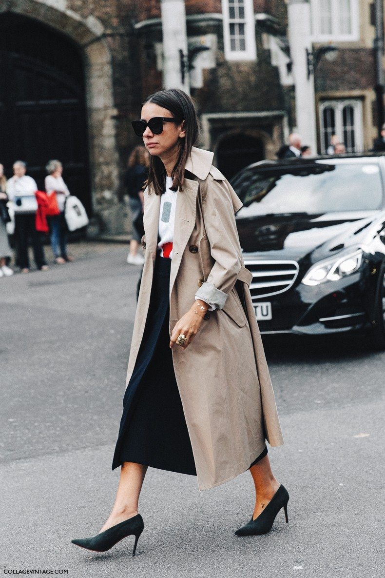 London_Fashion_Week-Spring_Summer_16-LFW-Street_Style-Collage_Vintage-Natasha_Goldenberg-Celine_Shoes-Trench_Coat-Midi_Skirt-3