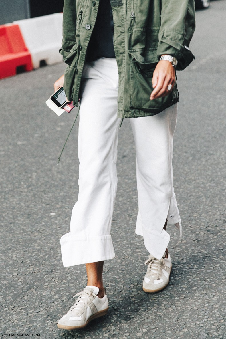 London_Fashion_Week-Spring_Summer_16-LFW-Street_Style-Collage_Vintage-Parka-White_Trousers-Sneakers-1