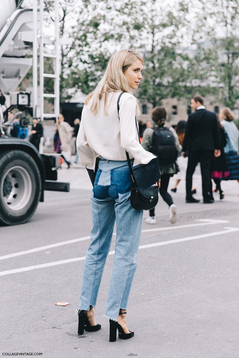 London_Fashion_Week-Spring_Summer_16-LFW-Street_Style-Collage_Vintage-Pernille_Tesibaek-JW_Anderson_Blouse-Vetements_Jeans-Gucci_Shoes-3