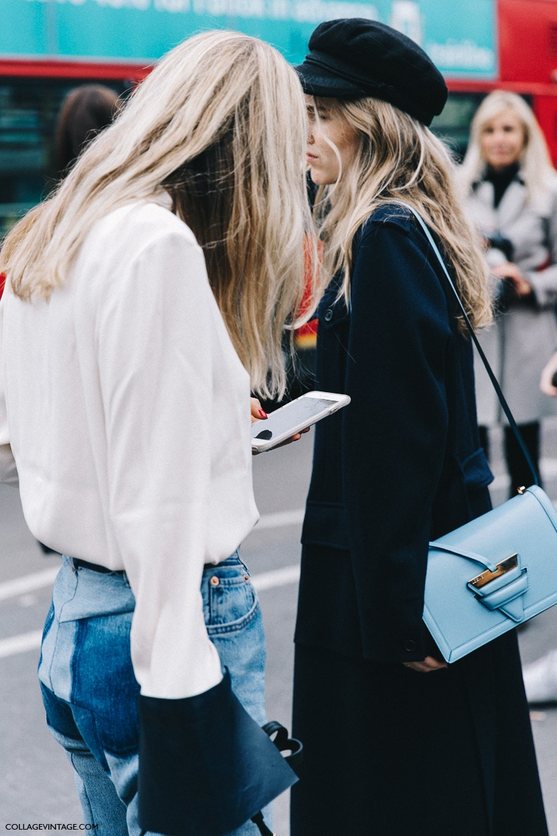 London_Fashion_Week-Spring_Summer_16-LFW-Street_Style-Collage_Vintage-Pernille_Tesibaek-JW_Anderson_Blouse-Vetements_Jeans-Gucci_Shoes-Loewe_Bag-