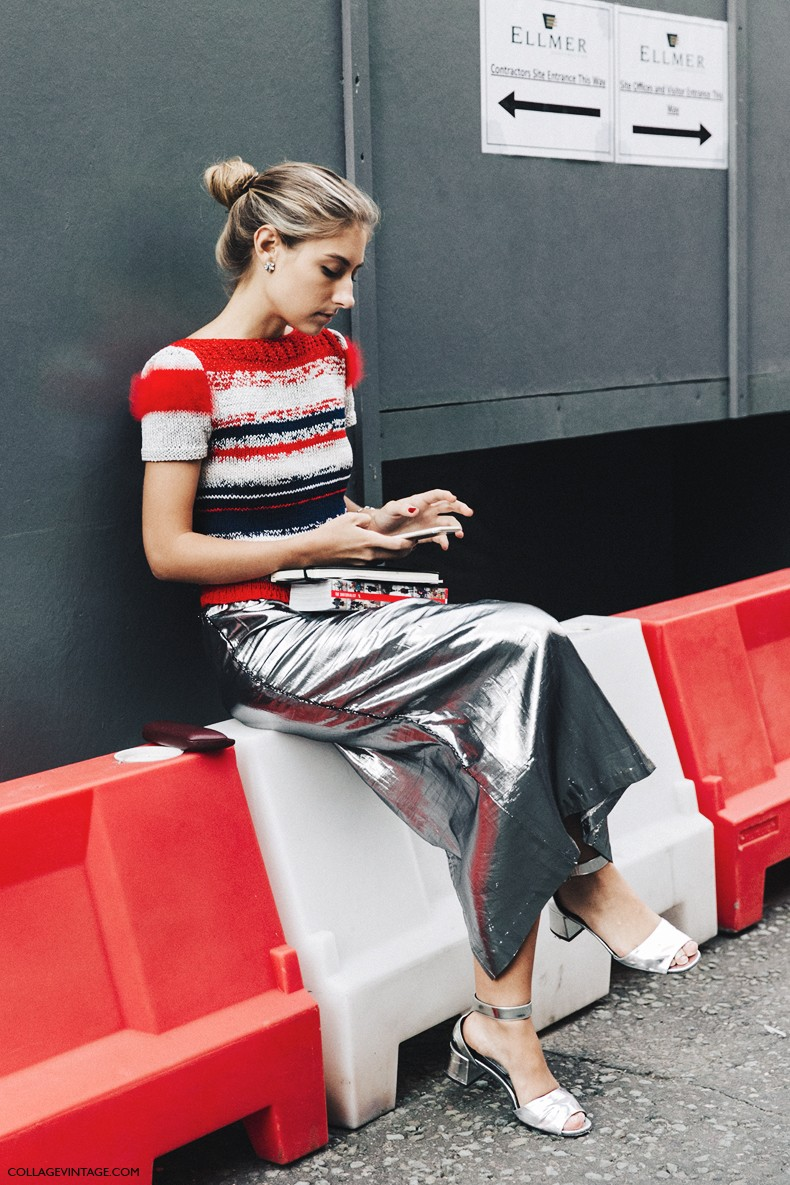London_Fashion_Week-Spring_Summer_16-LFW-Street_Style-Collage_Vintage-Silver_Skirt-Metallics-
