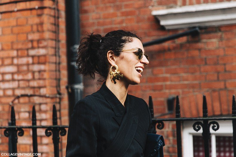 London_Fashion_Week-Spring_Summer_16-LFW-Street_Style-Collage_Vintage-Yasmin_Sewell-Big_Earring_TRend-