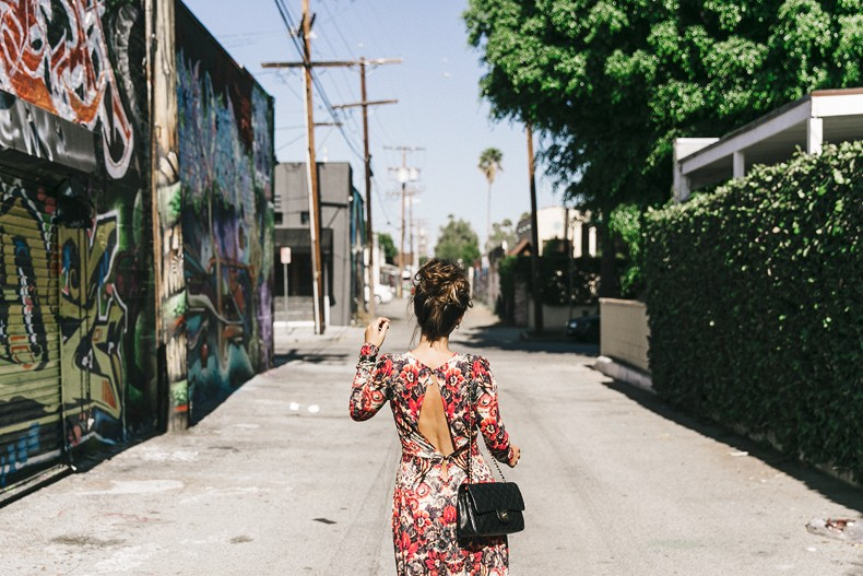 Los_Angeles-Sam_And_Lavi_Dress-Floral_Print-Lace_Up_Sandals-Chanel_Vintage_Bag-Outfit-Street_Style-Collage_Vintage-21