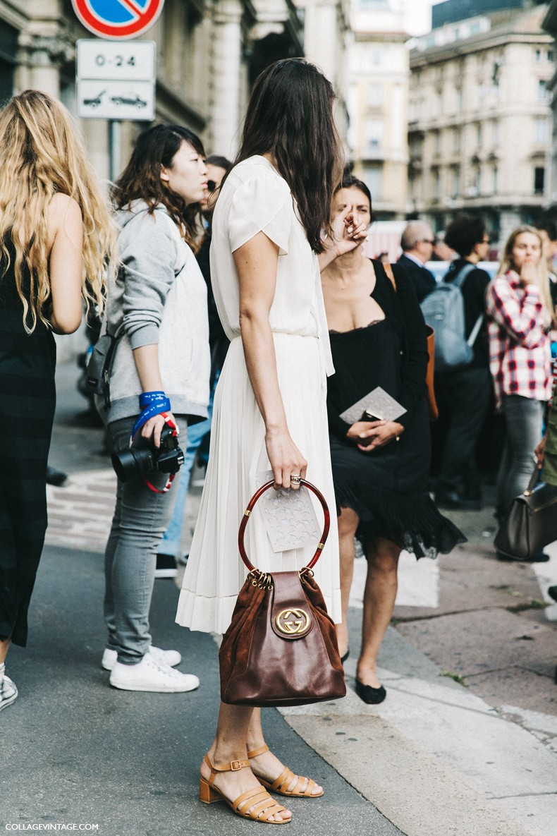 MFW-Milan_Fashion_Week-Spring_Summer_2016-Street_Style-Say_Cheese-Alessandra_Codihna-White_Dress-Gucci_Bag-1