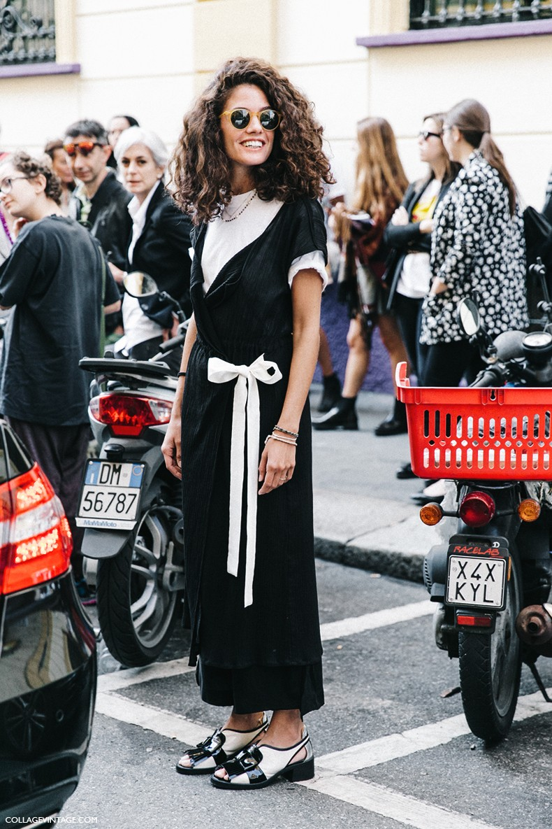 MFW-Milan_Fashion_Week-Spring_Summer_2016-Street_Style-Say_Cheese-Black_And_White-